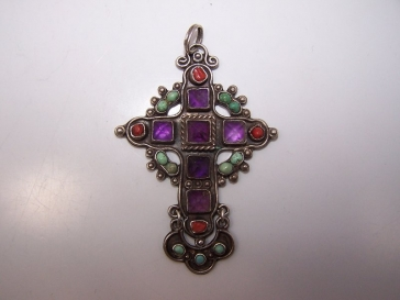 Rivera Mexican Silver Gemstone Cross
