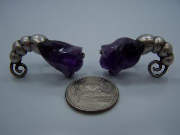 William Spratling Vintage Mexican Silver Tulip Earrings