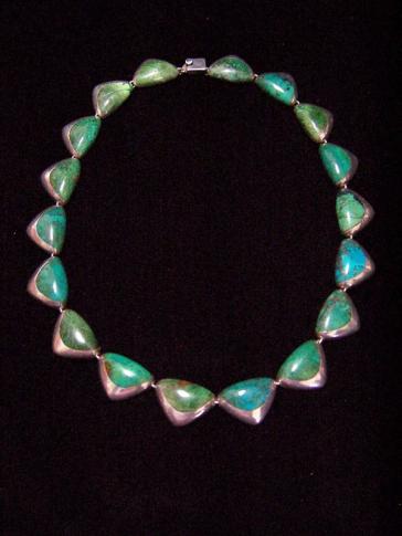 Ledesma Vintage Mexican Silver Necklace/Bracelet Set