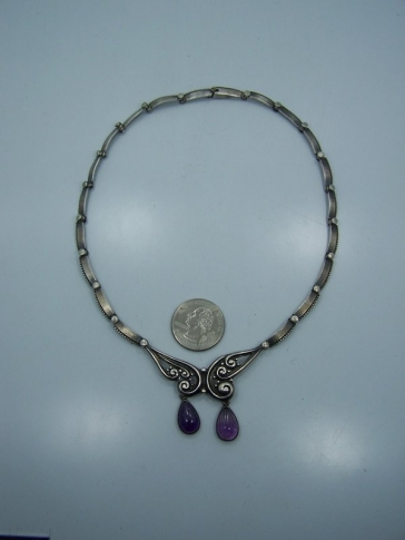 Margot de Taxco Vintage Mexican Silver Necklace 5344