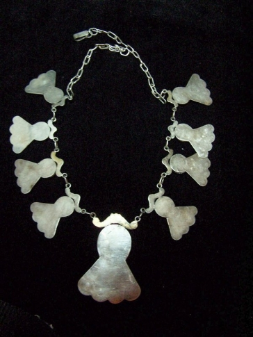 Vintage Mexican Silver Purple Stone Necklace