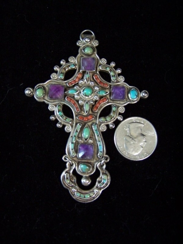 Matl Matilde Poulat Mexican Silver Vintage Cross
