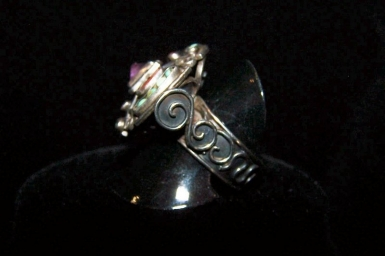 Matl Vintage Mexican Silver Ring Eagle 129