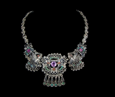 Old Matl Matilde Poulat Paloma's Vintage Mexican Silver Necklace