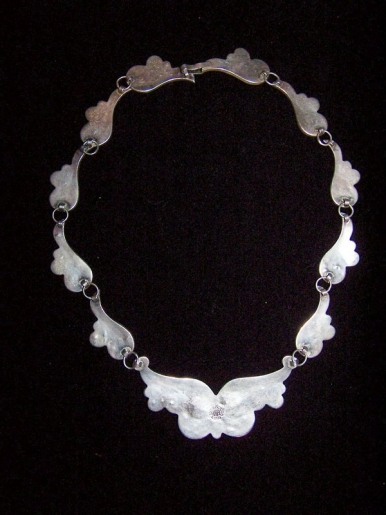 Most Beautiful Vintage Mexican Silver Mosaic Necklace