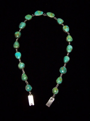 Federico Southwestern Sterling Turquoise Necklace