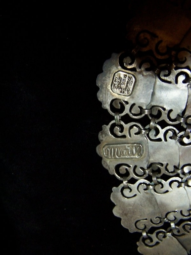 Matl Salas Mexican Silver Jeweled Collar Necklace