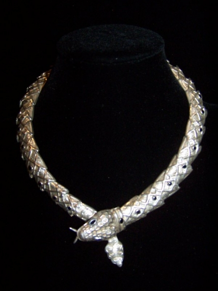 Mexican Silver Snake Necklace Margot Design