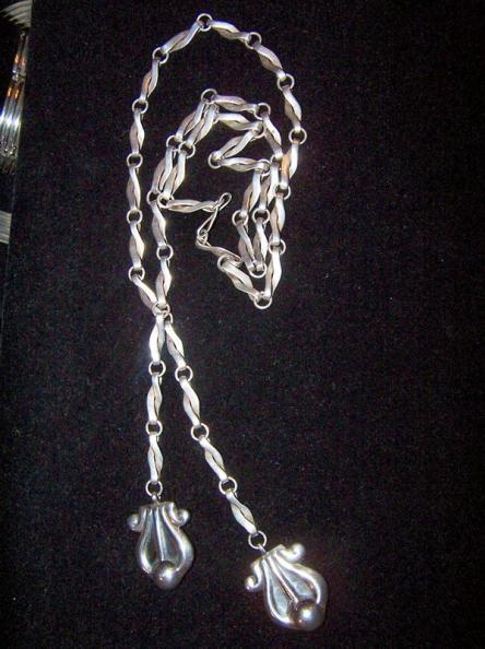 Reveriano Castillo Mexican Silver Sautoire Lariat