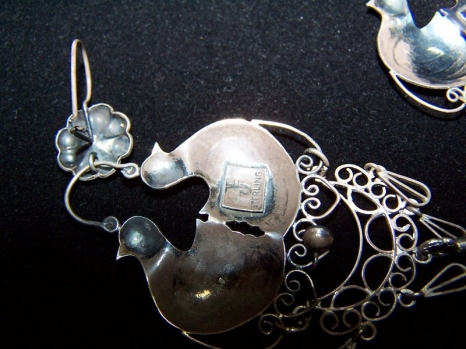 Los Castillo Vintage Mexican Silver Swirl Bracelet HUGE