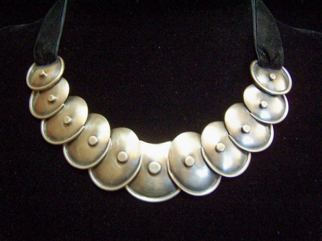 Hector Aguilar Armadillo Mexican Silver Necklace