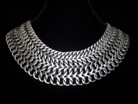 Not Your Ordinary Mexican Silver Chain Mail Necklace
