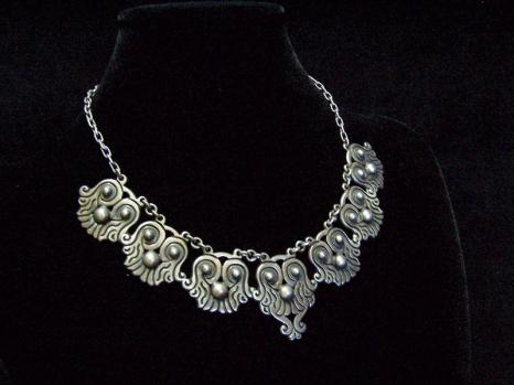 Vintage Mexican Silver Rafael Dominguez Necklace