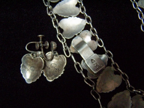 Hector Aguilar Vintage Mexican Silver Necklace & Ears
