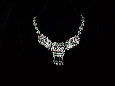 Matl Vintage Mexican Silver Matilde Poulat Necklace