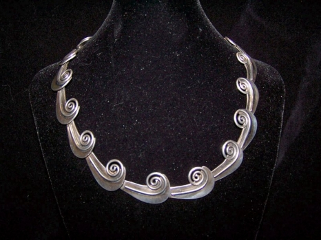 Taxco 980 Vintage Mexican Silver Necklace