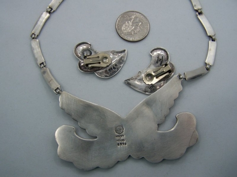 Margot de Taxco Design 5790 Vintage Mexican Silver Set