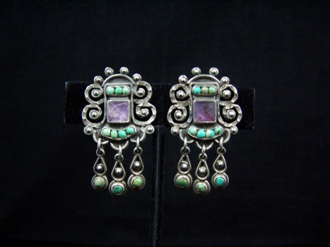 Old Rivera Vintage Mexican Silver Earrings Fabulous