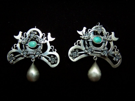 Vintage Mexican Silver Parijito Bird Earrings