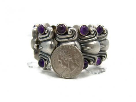 Rare Antonio Pineda Vintage Mexican Silver Bracelet