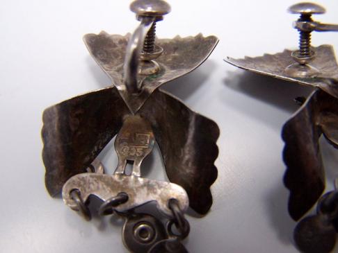 Incredible Peruvian Vintage Silver Peacock Earrings