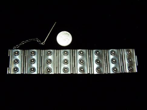 Casa Prieto Huge Mexican Vintage Silver Bracelet