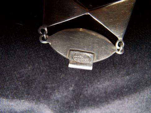 Amethyst Vintage Mexican Silver Repousse Bracelet