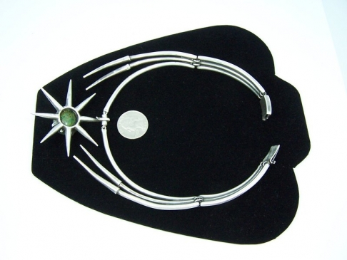 Salvador Teran Vintage Mexican Silver Star Necklace