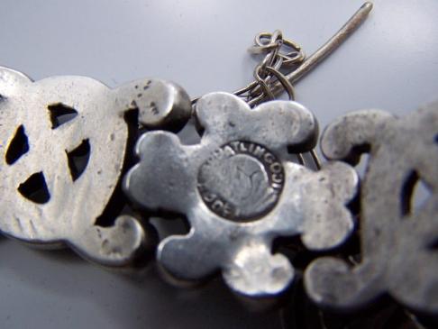 William Spratling Mexican Vintage Silver X & O Bracelet