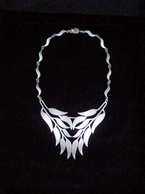 Arte En Plata Vintage Mexican Silver Necklace Pectoral