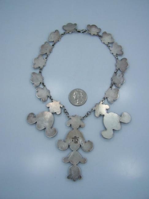 980 Los Castillo 246 Vintage Mexican Silver Necklace
