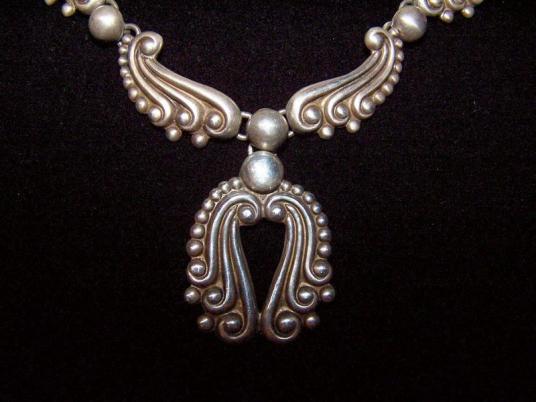 Vintage Mexican Silver Necklace & Er's by Gerardo Lopez