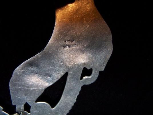 Vintage Taxco 980 Silver Fish W/ Amethyst Necklace