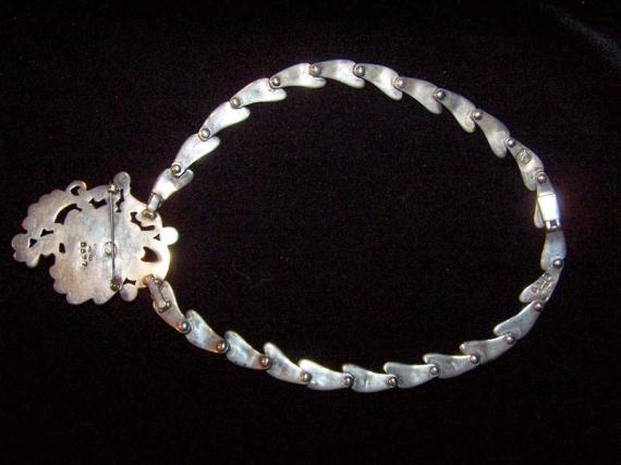 Margot de Taxco Necklace/ER/BR Vintage Mexican Silver