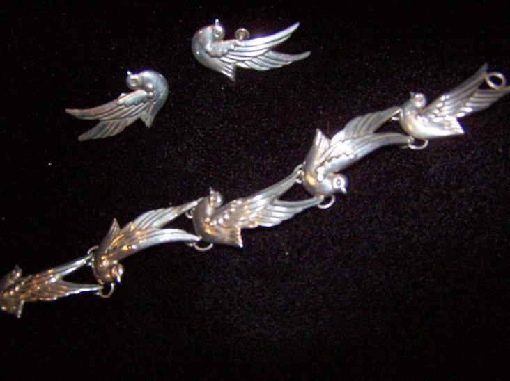Vintage Los Castillo Mexican Silver Set
