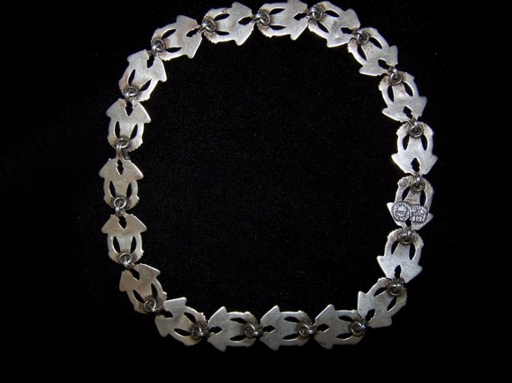 Vintage Margot de Taxco Mexican Silver Necklace