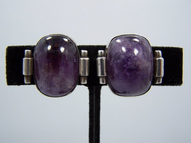 Fred Davis Design Earrings Vintage Mexican Silver