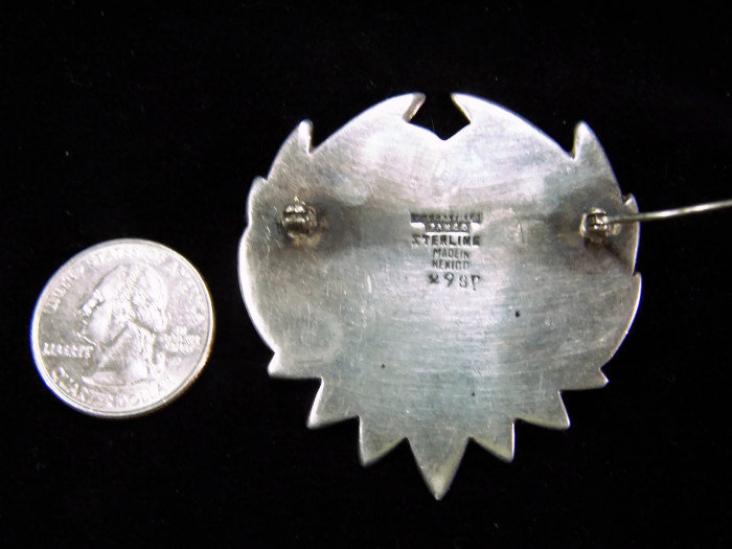 Los Castillo Brooch Vintage Mexican Silver Brooch
