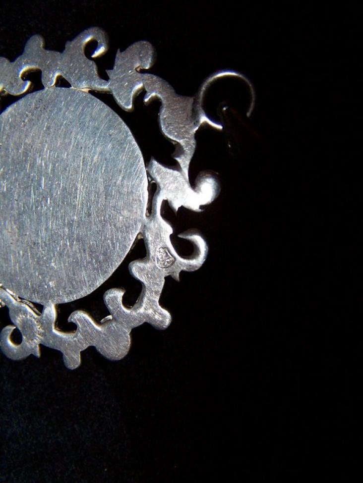 Eagle 22 Vintage Mexican Silver Amethyst Pendant