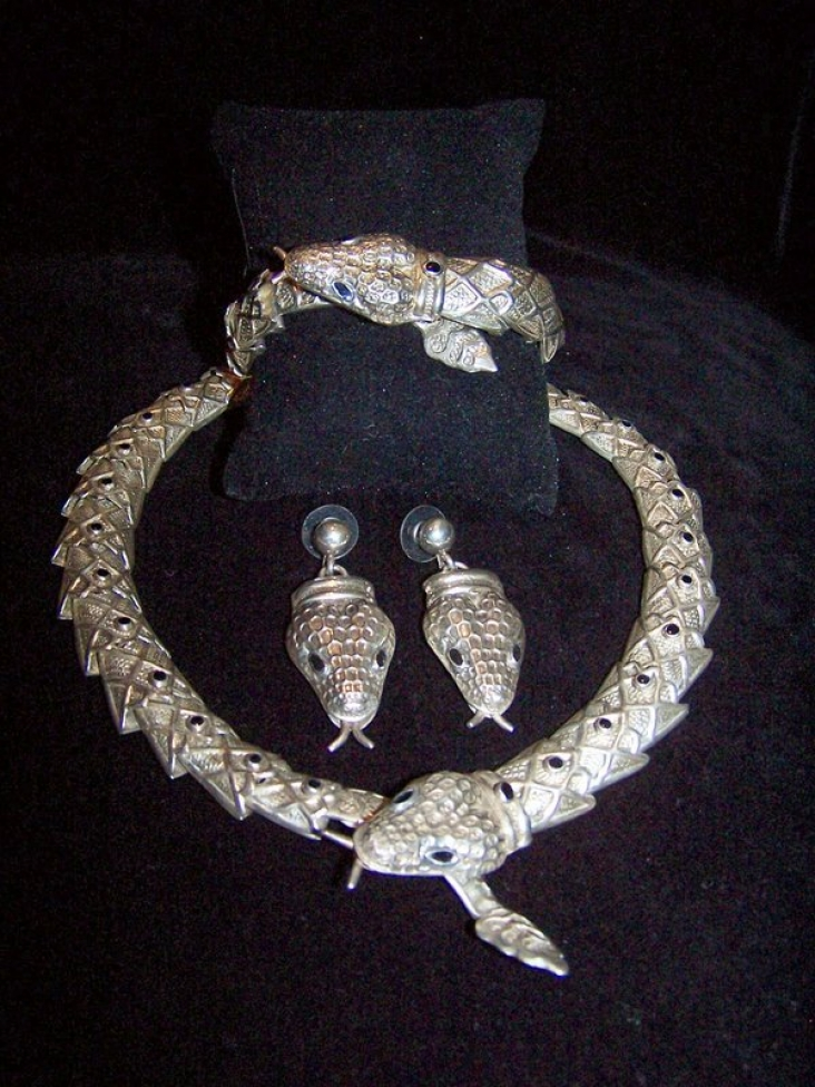 Margot de Taxco Design Mexican Silver Snake Bracelet
